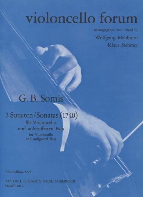 2 Sonaten (B-Dur und F-Dur): für Violoncello und unbezifferten Baß