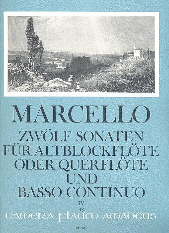 12 Sonaten op.2 Band 4 (Nr.10-12)fuer Altblockfloete (Floete) und Bc