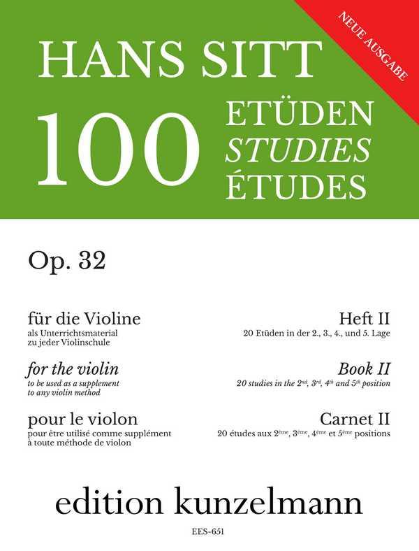 100 Etüden opus.32 Band 2: 20 Etüden in der 2.-5. Lage