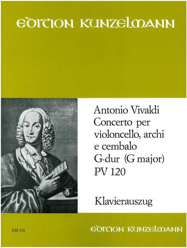 Konzert G-Dur PV120 für Violoncello, Streicher und Cembalo: für Violoncello und Klavier