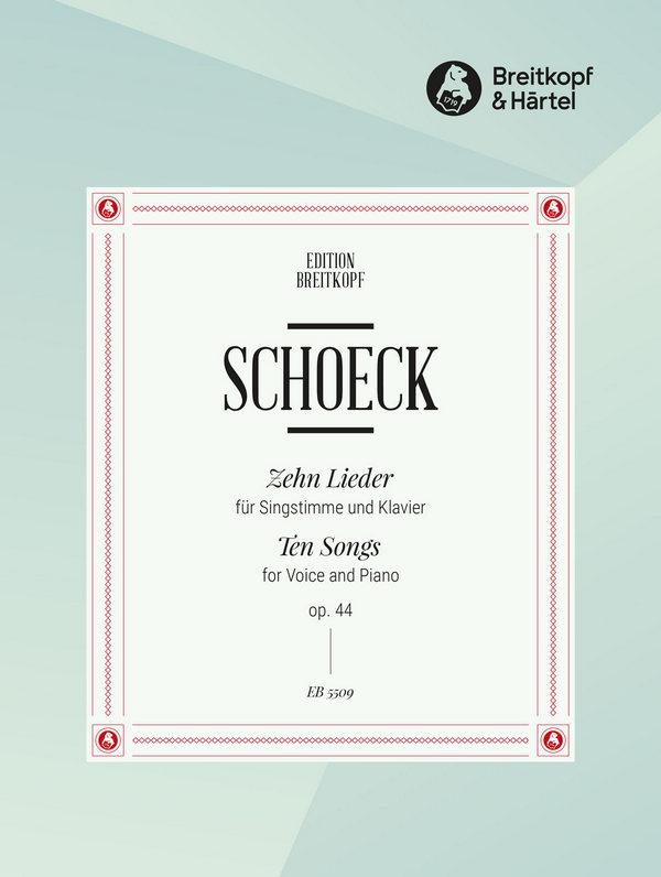 10 Lieder opus.44 nach Gedichten von Hermann Hesse: für Singstimme und