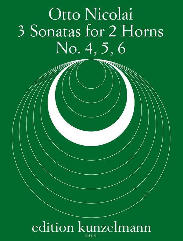 3 Sonatas: for 2 horns