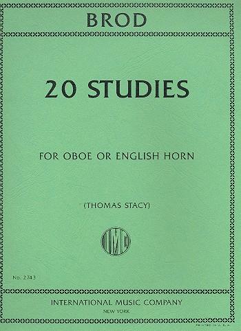 Brod, Henri - 20 studies : for oboe or english horn