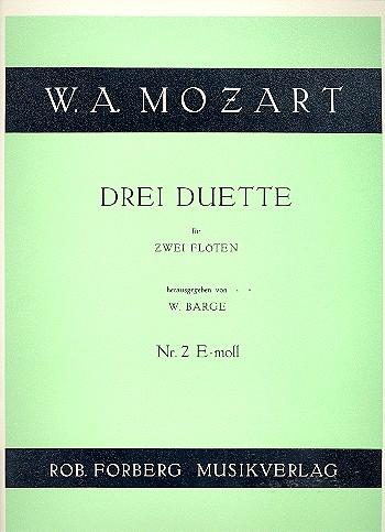 Mozart, Wolfgang Amadeus - Duett Nr.2 e-Moll : für 2 Flöten