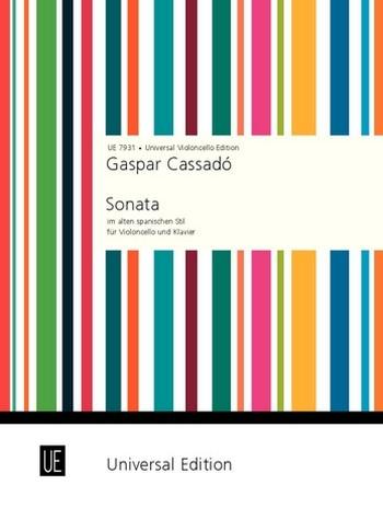 Cassado, Gaspar - Sonata nello stile antico spagnuolo :