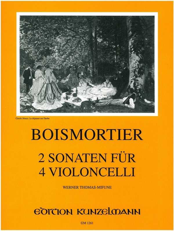 2 Sonaten: für 4 Violoncelli