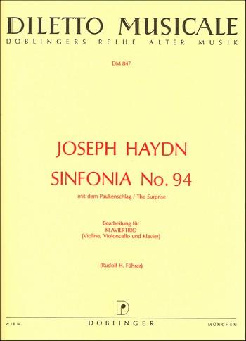 Sinfonie G-Dur Nr.94 Hob.I:94: für Klaviertrio