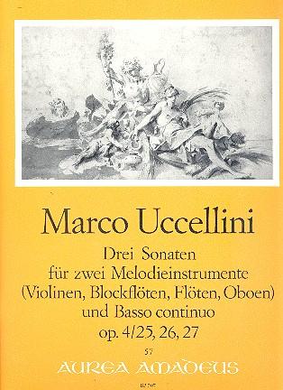 Uccellini, Marco - 3 Sonaten aus op.4 : für