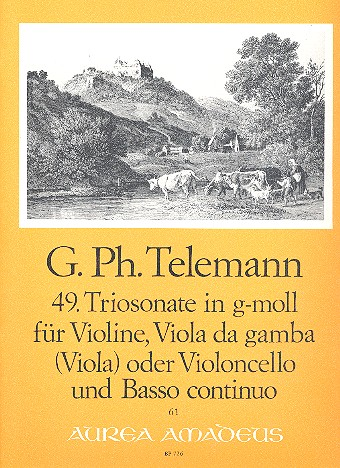 Triosonate g-Moll Nr.49: für Violine, Viola da gamba (Viola, Violoncello)