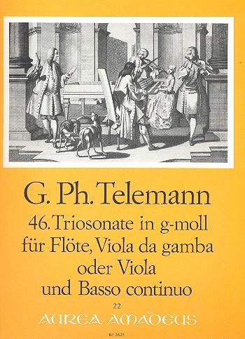 Triosonate g-Moll Nr.46: für Flöte, Viola da gamba und Bc