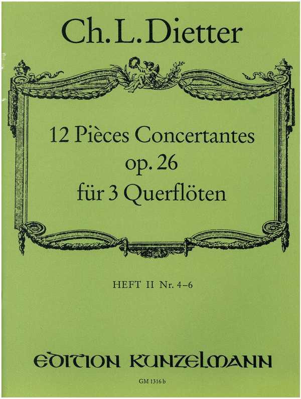 12 pièces concertantes opus.26 Band 2 (Nr.7-12): für 3 Flöten