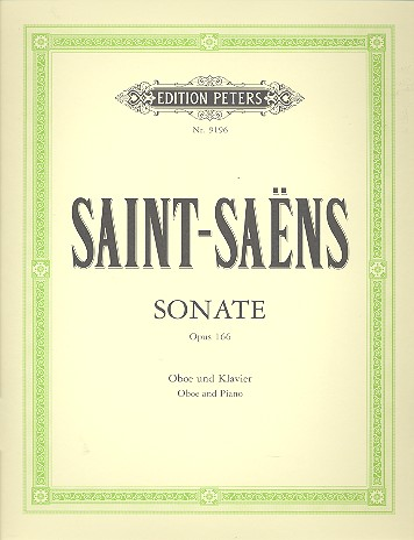 Saint-Saens, Camille - Sonate op.166 : für Oboe und