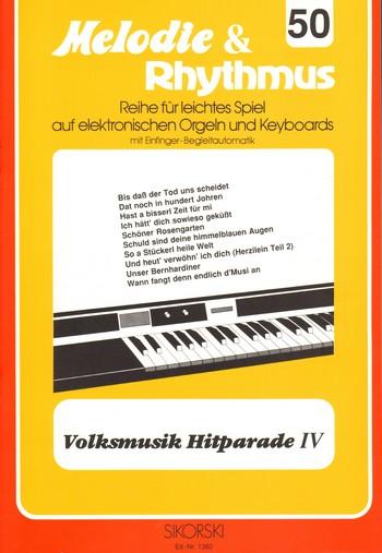 Volksmusik Hitparade 4: für E-Orgel / Keyboard