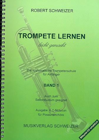 Trompete lernen leicht gemacht: Ausgabe in C-Notation für