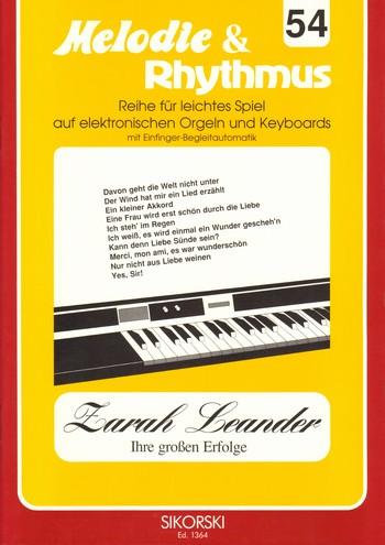Zarah Leander ihre großen Erfolge: für E-Orgel / Keyboard