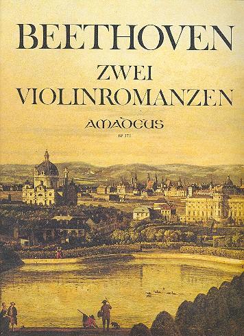 2 Romanzen für Violine und Orchester: für Violine und Klavier mit Faksimile