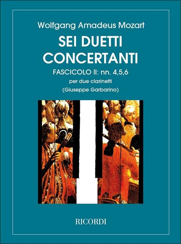 6 duetti concertanto vol.2 (nos.4-6): per 2 clarinetti