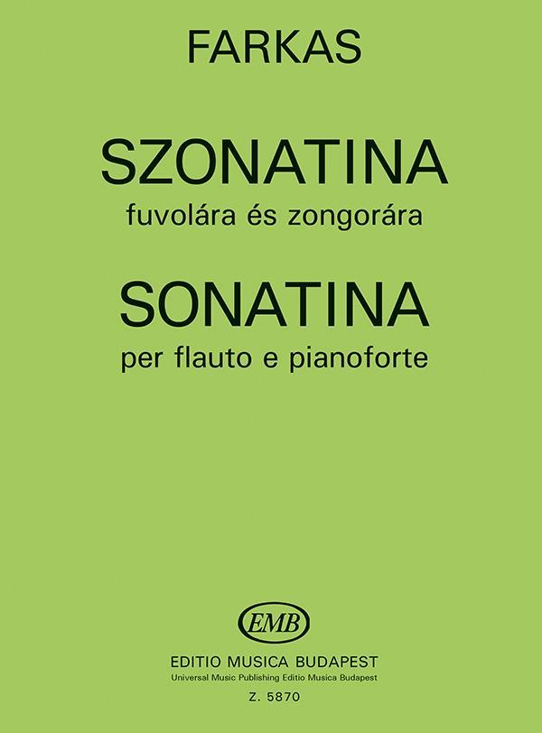Farkas, Ferenc - Sonatine : für Flöte und Klavier