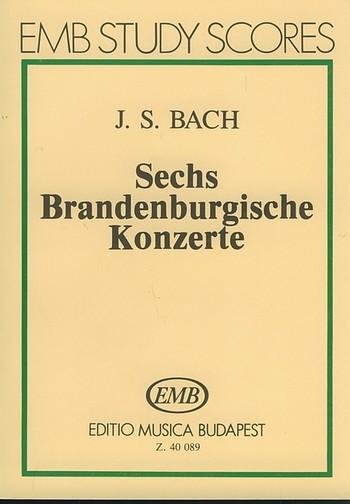 6 Brandenburgische Konzerte: Studienpartitur