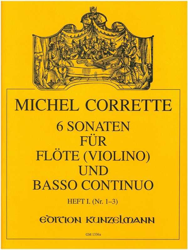 Corrette, Michel - 6 Sonaten op.13 Band 1 (Nr.1-3) :