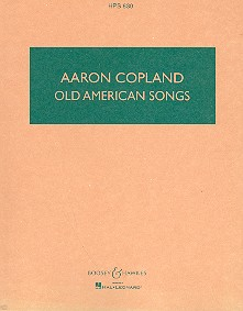 Old American Songs: first and second sets Studienpartitur