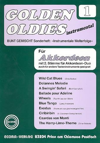 Golden Oldies Band 1: für Akkordeon Solo, Duo oder andere Tasteninstrumente