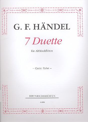 Händel, Georg Friedrich - 7 Duette : für 2 Altblockflöten