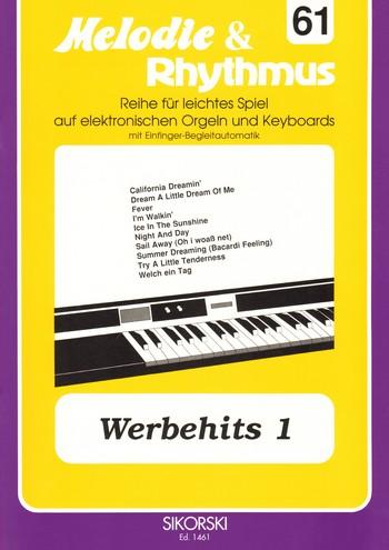 Werbehits 1: für E-Orgel / Keyboard