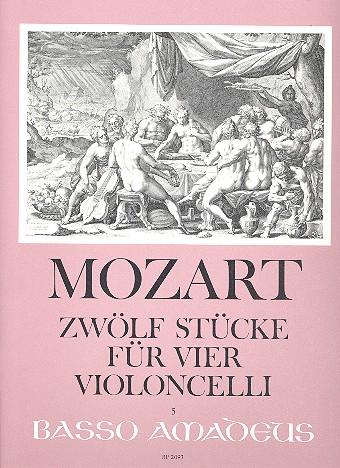 12 Stücke: für 4 Violoncelli