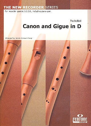 Canon and Gigue in D: for 4 recorders (SSSB) and bc