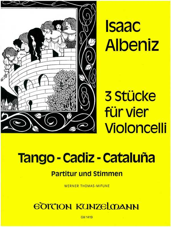 3 Stücke: für 4 Violoncelli