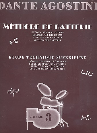 Agostini, Dante - Methode de batterie vol.3 :