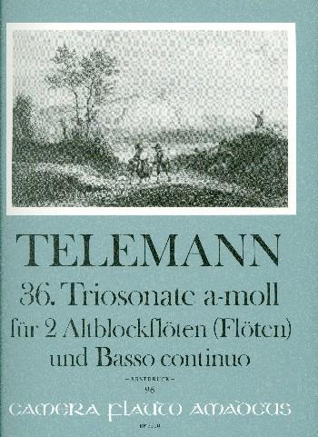Telemann, Georg Philipp - Triosonate a-Moll nr.36 :