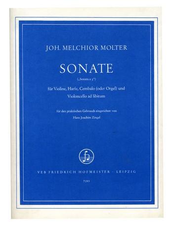 Sonate: für Violine, Harfe, Cembalo (Orgel) und