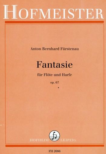 Fürstenau, Anton Bernhard - Fantasie op.67 : für Flöte und Harfe