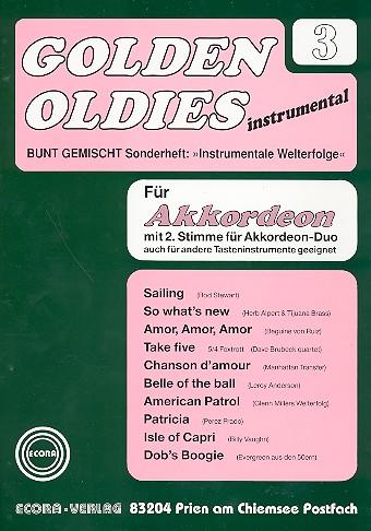 Golden Oldies Band 3: für Akkordeon solo, duo oder andere Tasteninstrumente