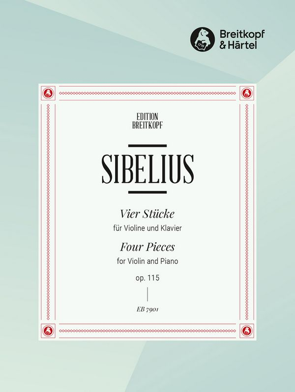 Sibelius, Jean - 4 Stücke op.115 : für