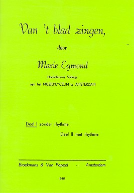 Egmond, Marie - Van't blad zingen vol.1 :