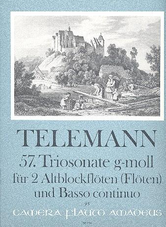 Telemann, Georg Philipp - Triosonate g-Moll Nr.57 : für