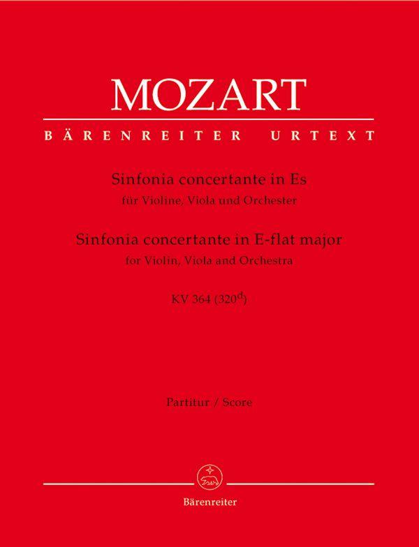 Sinfonia concertante Es-Dur KV364: für Violine, Viola und Orchester