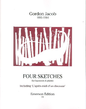Jacob, Gordon Percival Septimus - 4 Sketches : for bassoon and piano