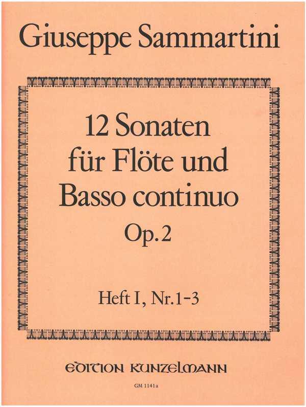 12 Sonaten opus.2 Band 1 (Nr.1-3): für Flöte und Bc