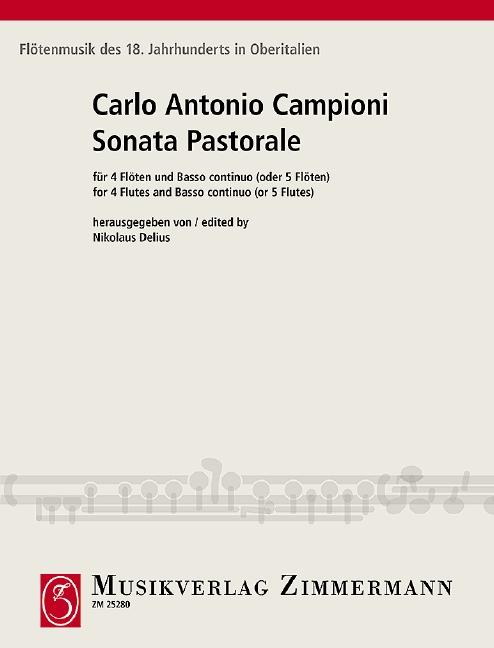 Campioni, Carlo Antonio - Sonata pastorale : für 4 Flöten