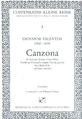 Canzona: für Cornetto (Violine, Oboe, Flöte), Posaune (Violoncello, Fagott)