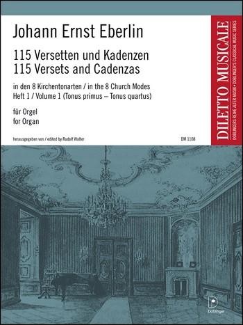 115 Versetten und Badenzen: Band 1 8 Kirchentonarten für Orgel