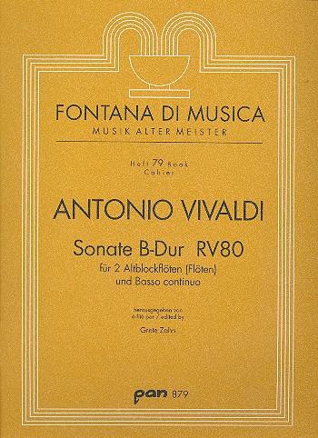 Vivaldi, Antonio - Sonate B-Dur RV80 : für