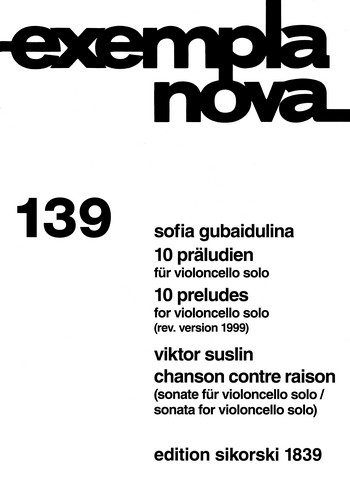 Gubaidulina, Sofia - 10 Präludien : für Violoncello solo