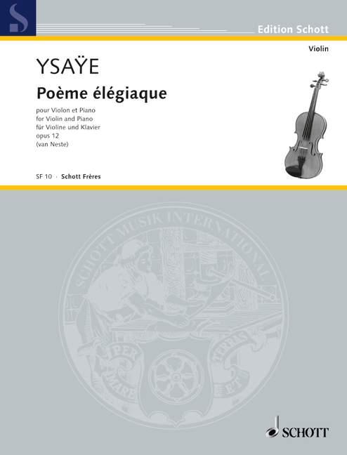 Poème élégiaque opus.12: pour violon et piano