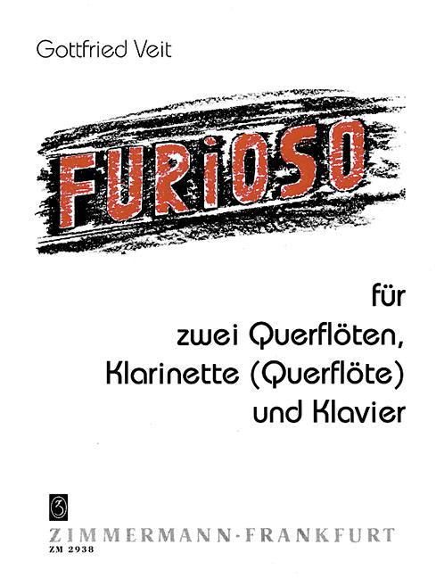 Furioso: für 2 Flöten, Klarinette (Flöte) und Klavier