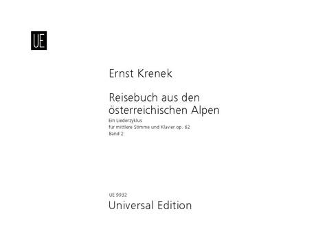 Krenek, Ernst - Reisebuch aus den österreichischen Alpen